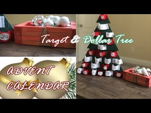 DIY ADVENT CALENDAR | DOLLAR TREE DIY | TARGET DOLLAR SPOT DIY