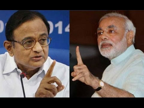 Shri Narendra Modi's Slams P. Chidambarm in Public !