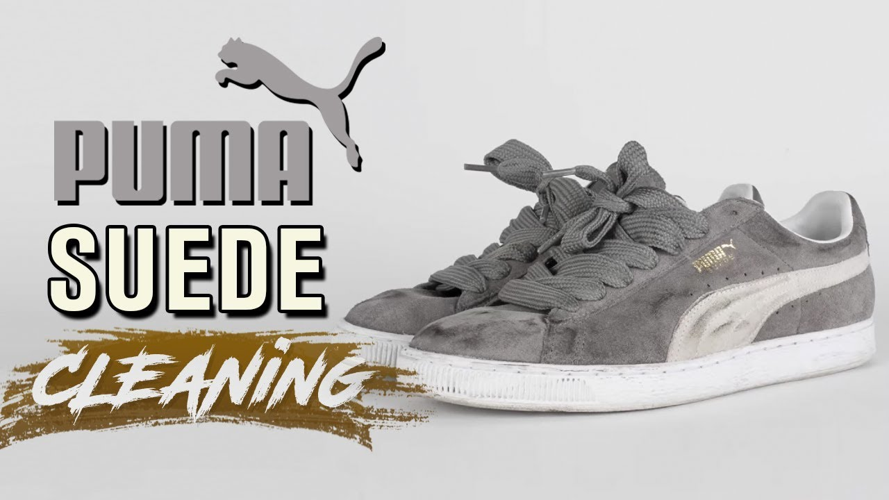 new product d8fe3 43d6f How to Clean Suede Puma's Tutorial