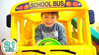 Assembling video Compilation by Xavi - Yaya School Bus Slide, Playhouse, Tayo Bus, Excavator ride on