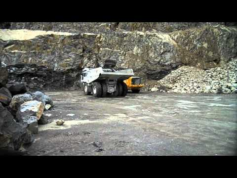 VOLVO L350F PERLINI DP705 part I Quarry Mining Steinbruch Gewinnung Dump Truck Rigid Hauler
