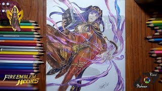 Drawing Tharja Fire Emblem Heroes Ep 1 | Mahnoor Rizvi | Drawing-Lapse