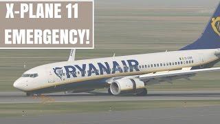 X-Plane 11 | B737 crash landing without nose gear!