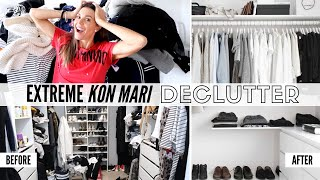 Extreme Konmari Closet Declutter 2019 | What Worked \u0026 What Didn't!