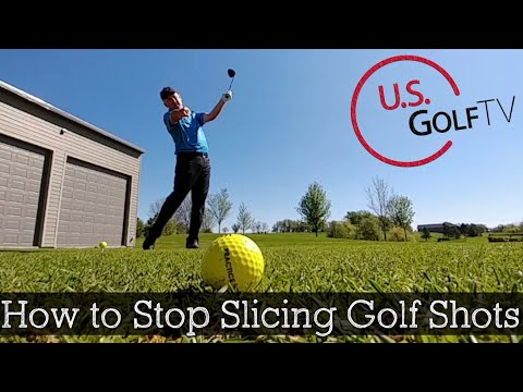 How to Stop Slicing the Golf Ball (TV DRILL)