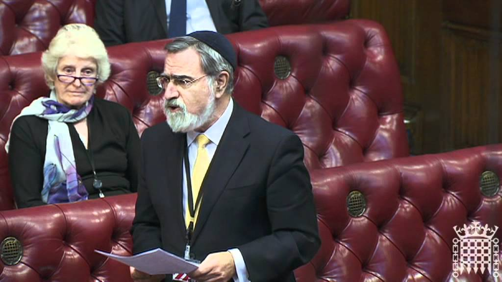 Chief Rabbi Lord Sacks speaks on Christians in the Middle East - House of Lords