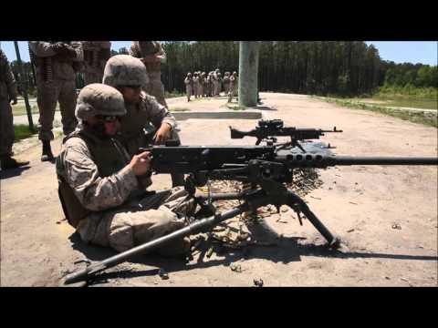 US Heavy Light Machine Guns Compilation M2 50 Cal M240 Bravo M249 live firing by US Army and Marines
