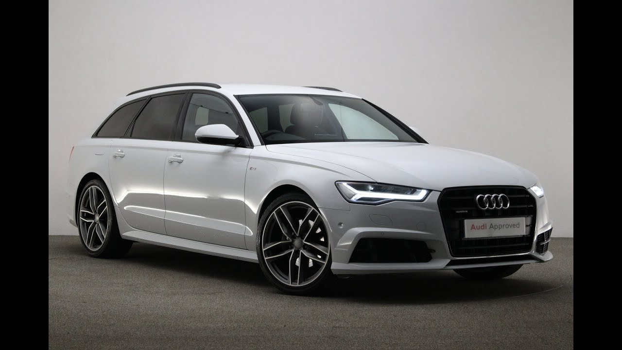 df66pzp audi a6 avant tdi quattro s line black edition white 2016 reading audi youtube. Black Bedroom Furniture Sets. Home Design Ideas