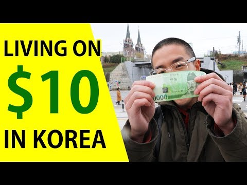 LIVING Cheap in Seoul - $10 For A Day?