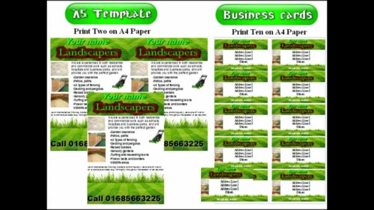 landscape gardening leaflets flyer