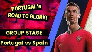 FIFA 2018 WORLD CUP - PORTUGAL Walkthrough - Match 1. Portugal vs Spain