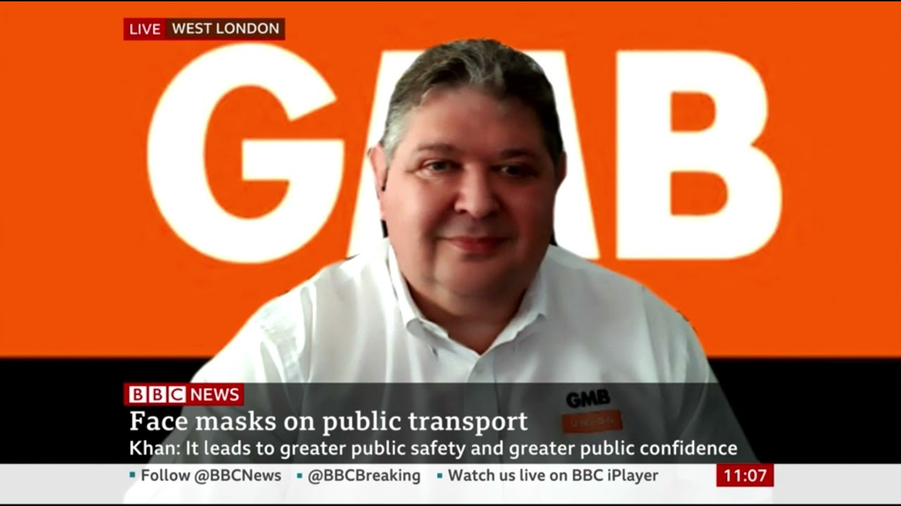 GMB's Steve Garelick on masks remaining compulsory on TfL | BBC News