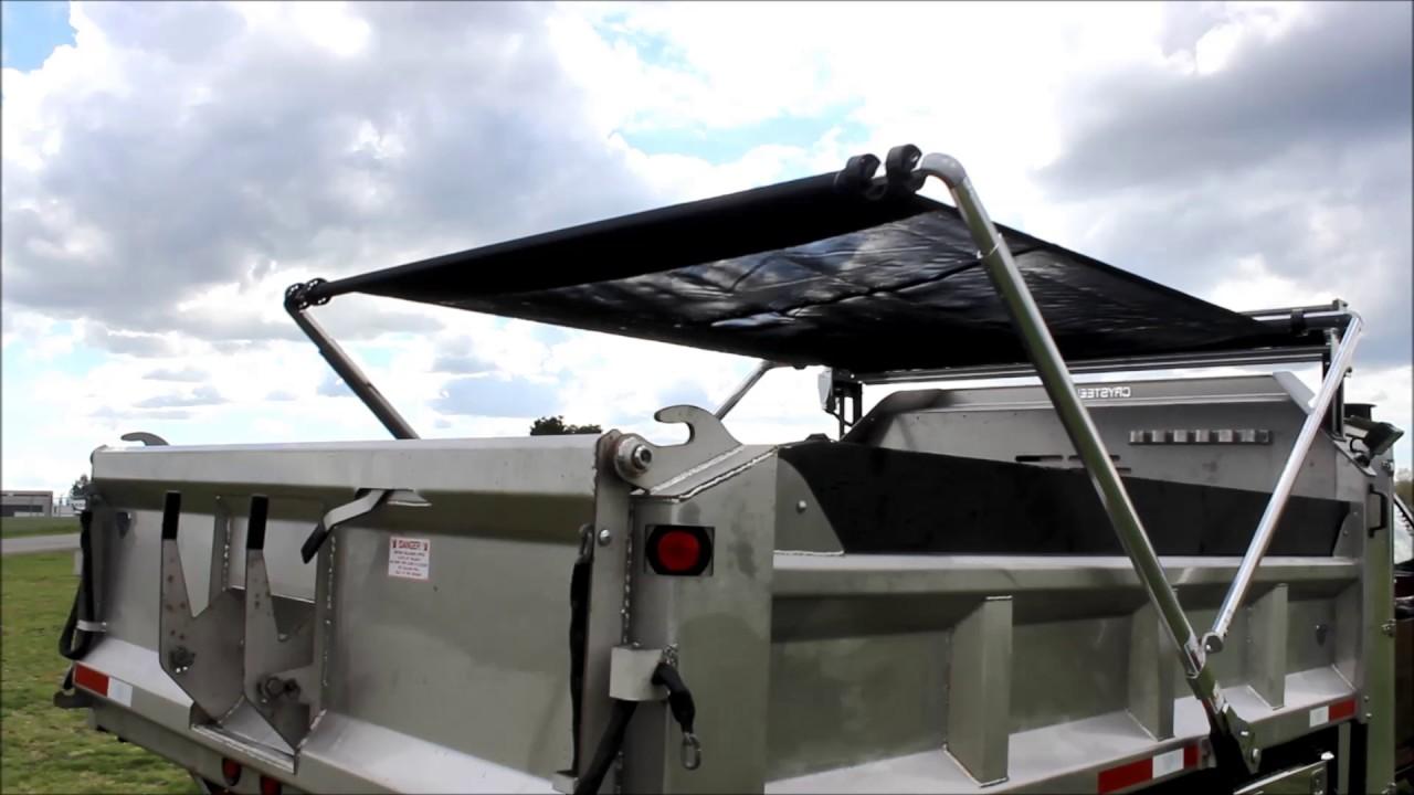5500 Dump Truck >> New Mechanical Tarp System for Dump Truck - YouTube