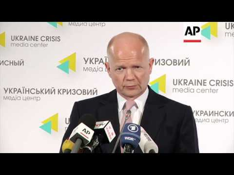 Hague comments after talks with Ukrainian leaders