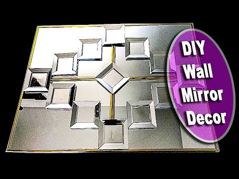 ✅  SUPER EASY to make Wall Decor DIY Mirror, Using Dollar Tree items.