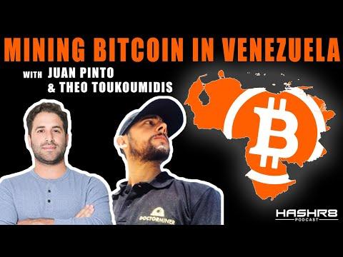 Mining Bitcoin In Venezuela with Juan Pinto and Theo Toukoumidis   HASHR8 Poscast