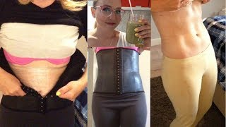 See What Happens--Waist Training+Plastic Wrap+Liquid Diet for 4 NIGHTS & 3 DAYS STRAIGHT!