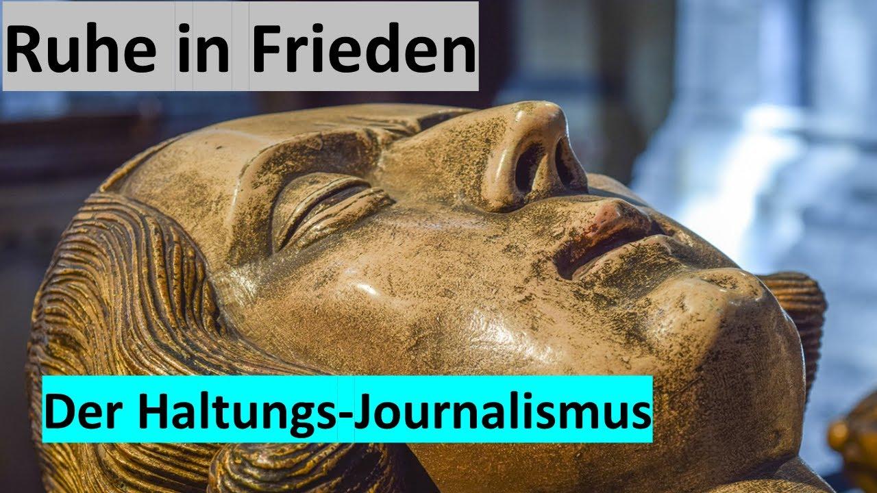 MEDIENKRITIK - Umfrage beerdigt die Haltungsjournalisten