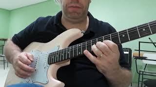 """Guitarra, Aula 93.d - """"Tema-Exercicio 13"""", M4, Wander Taffo."""