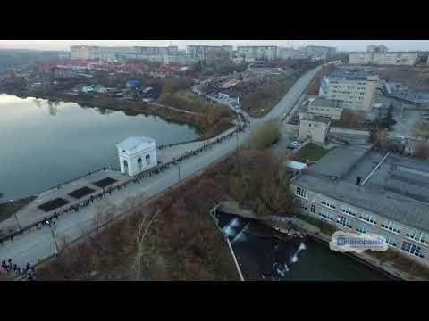 Каменск-Уральский. Юбилей пушки. 50 лет. Видео с квадрокоптера