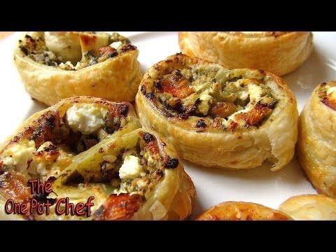 5 Ingredient Pesto Pastry Scrolls | One Pot Chef