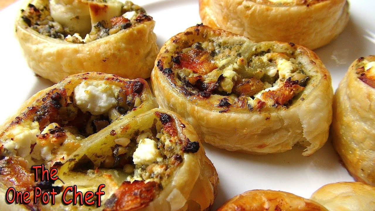5 Ingredient Pesto Pastry Scrolls | One Pot Chef