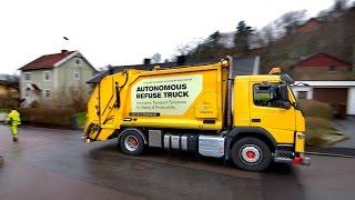 Volvo pioneers autonomous, self-driving refuse truck in the urban environment