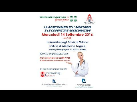 14 settembre 2016 - Corso di Formazione Responsabilità Sanitaria e Coperture Assicurative