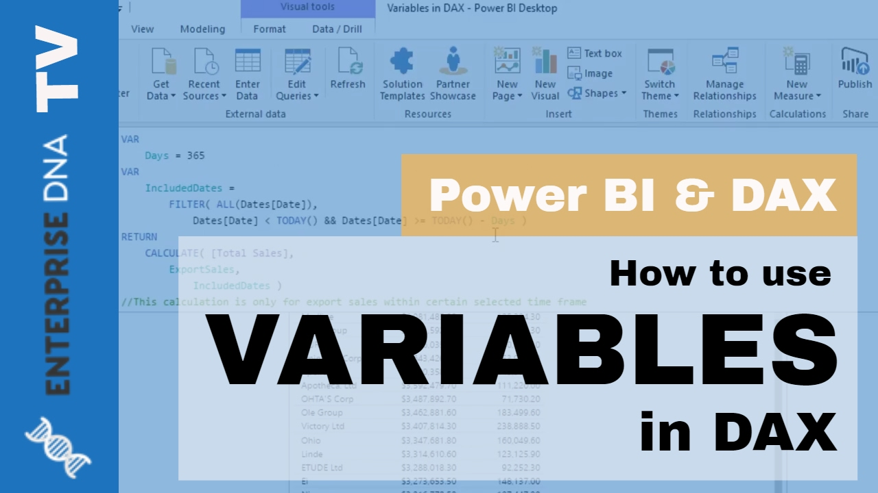 How To Use Variables in DAX Formula with Power BI