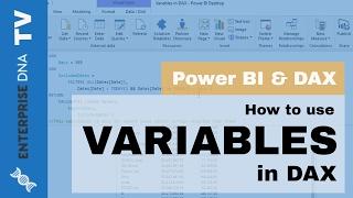 كيفية استخدام المتغيرات في صيغة DAX مع السلطة BI