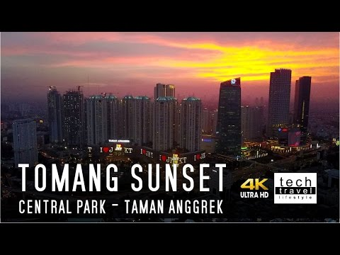 [4K] Tomang Sunset - Matahari Terbenam  - Central Park Taman Anggrek