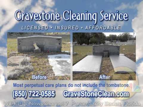 "Gravestone Cleaning Service - ""Clean For Love""   10 sec"