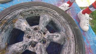 How to strip old paint off of wheels