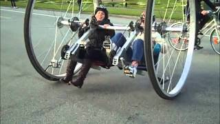 Mutant Big Wheel Bicycle Tests in Golden Gate Park