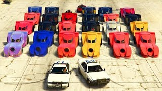 GTA 5 : POLICE vs BATMOBILE