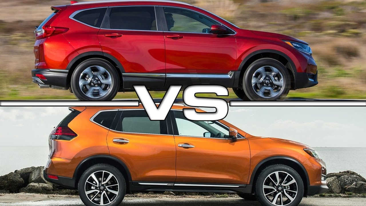 2017 honda cr v vs 2017 nissan rogue youtube
