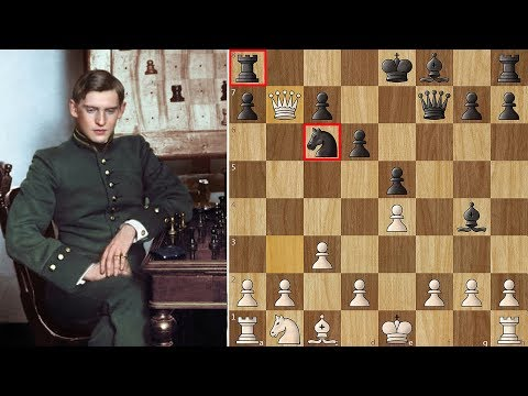 Alekhine's King Traps the Queen!