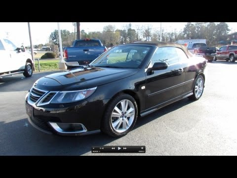 2009 Saab 9-3 Aero Turbo V6 Convertible Start Up, Exhaust, and In Depth Tour