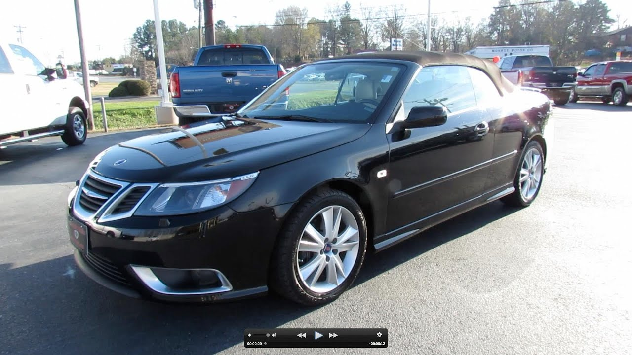 2009 saab 9 3 aero turbo v6 convertible start up exhaust and in depth tour youtube