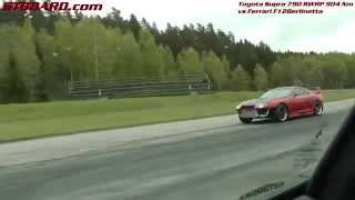 302 km h 188 mph ferrari f12berlinetta vs toyota supra 790 rwhp 904 nm