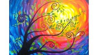 Video Whimsical Tree Beginner Acrylic Painting download MP3, 3GP, MP4, WEBM, AVI, FLV Juni 2018