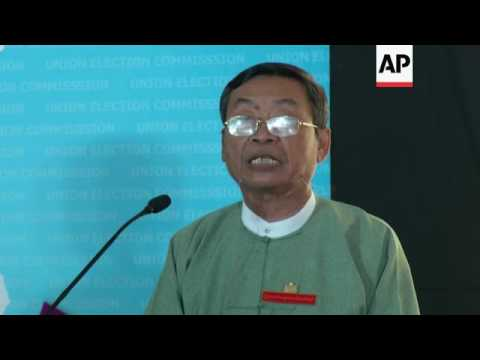 Myanmar election official defends poll fairness