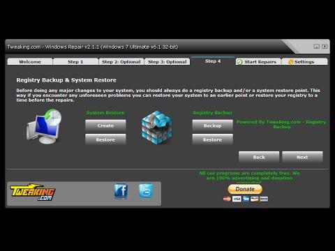 Windows Repair (All In One) Free Windows Repair Tool