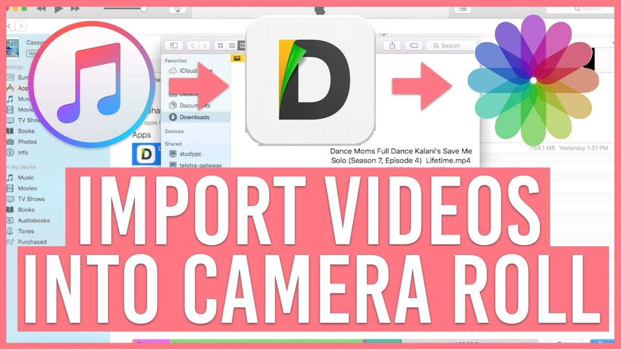 how to add a video to camera roll