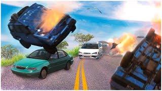 ЗАМЕС НА ТРАССЕ! ПО ОБОЧИНЕ ОБОГНАЛ ПРОБКУ НА ОГРОМНОЙ СКОРОСТИ! (BEAM NG DRIVE)