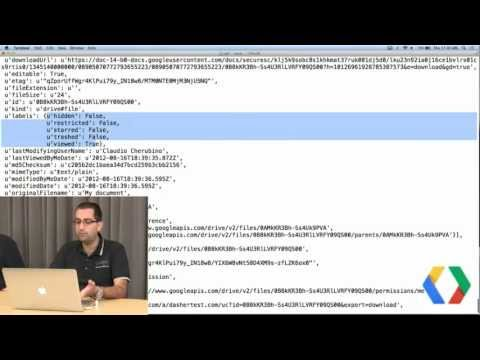 Google Drive SDK: Writing your first Drive app in Python