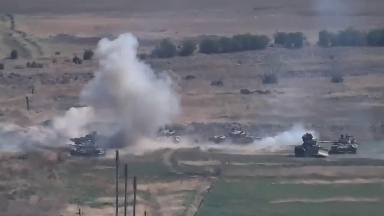Ещё одно видео уничтожения азербайджанских танков
