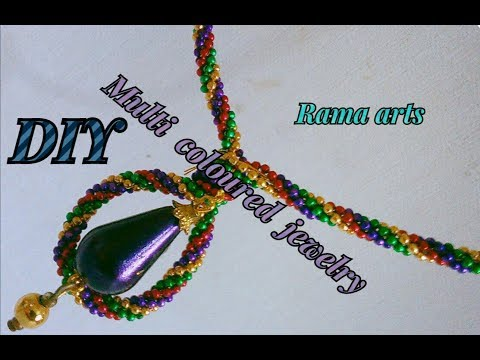 Multi coloured jewelry - Making with ball chain | jewellery tutorials