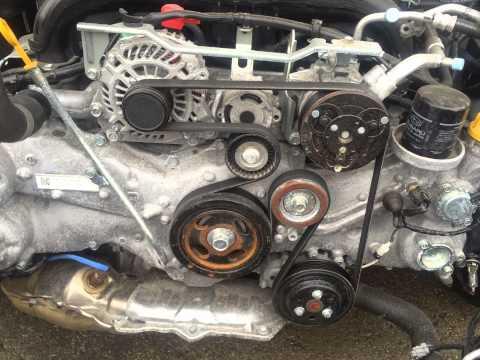 Subaru How Install Replace Serpentine Belt Subaru Legacy