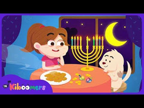 9 Little Candles in My Hanukkah Menorah | Hanukkah Song for Kids | Chanukah Song | The Kiboomers
